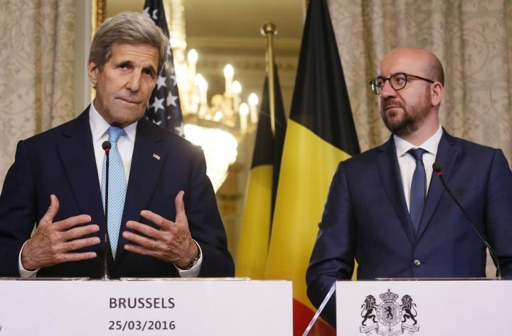 John Kerry en Charles Michel - Foto: EPA