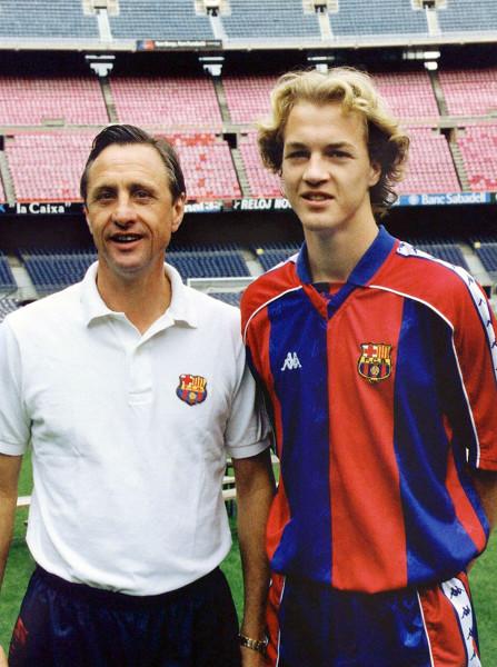 1995-06-03 12:00:00 Jordi en Johan Cruijff./Jordi en Johan Cruyff.