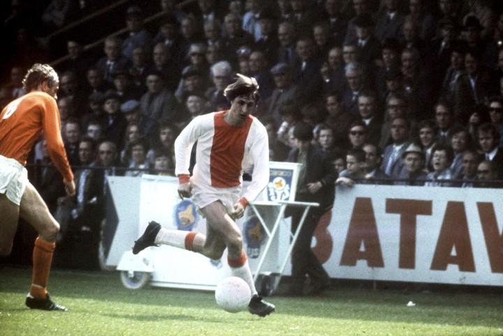 1978-05-01 12:00:00 Actie Johan Cruijff in stadion de Meer. ANP-Foto/Aktie Johan Cruyff in stadion de Meer. 1978. ANP-Foto