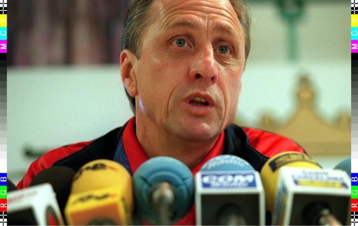 1996-03-18 18:12:32 Barcelona-trainer Johan Cruijff gaf maandag een persconferentie in het trainingskamp van zijn team. Dinsdag speelt Barcelona tegen PSV in de kwartfinale UefaCup.
