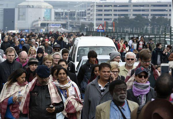 Zaventem evacuatie (AFP)