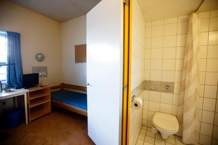 De slaapcel van Breivik Foto: AFP
