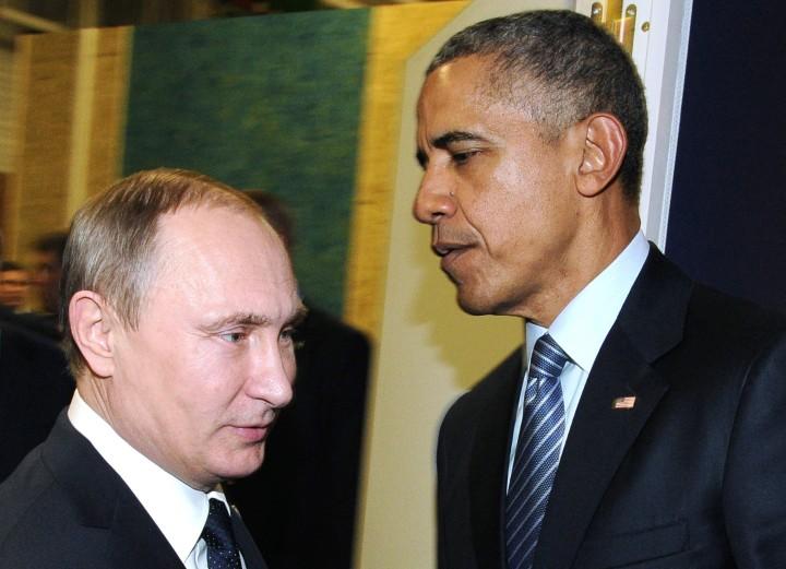 Archiefbeeld van de Russische president Vladimir Poetin de Amerikaanse president Barack Obama - Foto: AFP