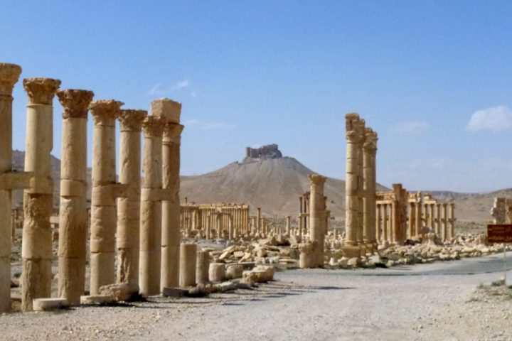 "2016-03-27 14:44:48 A general view taken on March 27, 2016 shows part of the ancient city of Palmyra, after government troops recaptured the UNESCO world heritage site from the Islamic State (IS) group. President Bashar al-Assad hailed the victory as an ""important achievement"" as his Russian counterpart and key backer Vladimir Putin congratulated Damascus for retaking the UNESCO world heritage site. / AFP PHOTO / Maher AL MOUNES"