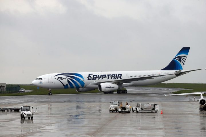 2016-05-19 12:12:54 This picture taken on May 19, 2016, shows an Egyptair Airbus A330 from Cairo taxiing at the Roissy-Charles De Gaulle airport near Paris after its landing a few hours after the MS804 Egyptair flight crashed into the Mediterranean. An EgyptAir flight from Paris to Cairo crashed into the Mediterranean on May 19, 2016, with 66 people on board, prompting an investigation into whether it was mechanical failure or a bomb. There were no immediate reports of the discovery of any debris in the area of sea between the Greek islands and the Egyptian coast where the plane vanished from radar screens. / AFP PHOTO / THOMAS SAMSON