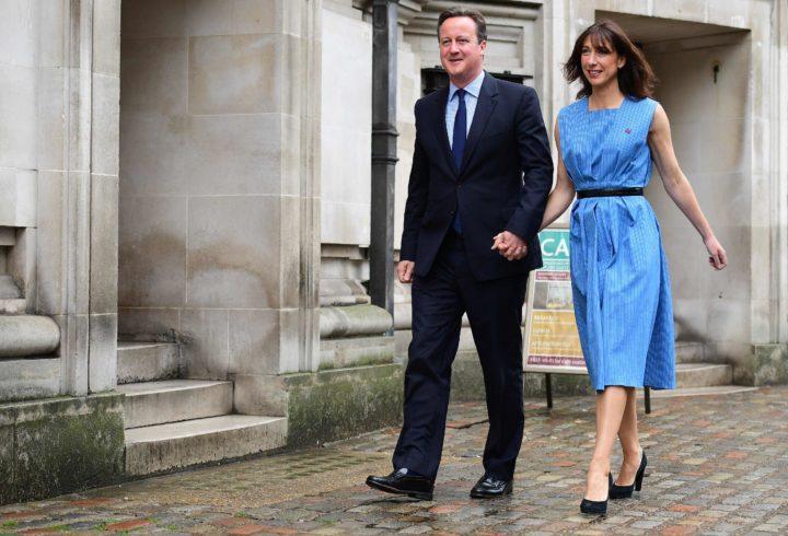 David en Samantha Cameron stemmen op 23 juni. De premier zal bij een Brexit-stem waarschijnlijk opstappen