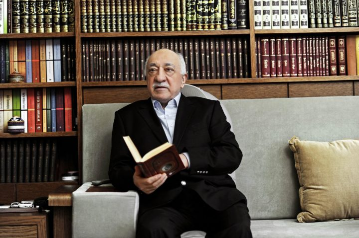 2014-03-15 12:38:46 epa04139890 A handout picture made avaliable on 25 March 2014 provided by Zaman Turkish Daily newspaper shows Fethullah Gulen, an Islamic opinion leader and founder of the Gulen movement, poses during an interview at his residence in Pennsylvania, USA, 15 March 2014. Turkish Prime Minister Erdogan is considering banning YouTube and Facebook after local elections at the end of this month. Leaked recordings, which have not been verified, link Erdogan and his allies to corruption and attempts to control the media. Erdogan has blamed the leaks on followers of US-based Muslim cleric Fethullah Gulen, a one-time ally, but now a foe. Gulen denies the allegations. EPA/SELAHATTIN SEVI/ZAMAN DAILY NEWSPAPER / HANDOUT EDITORIAL USE ONLY