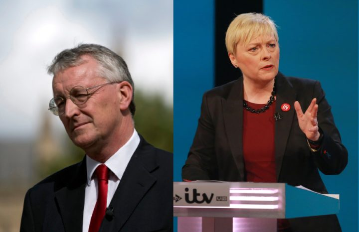 "2016-06-09 19:24:11 This handout picture released by ITV shows, British Labour Party politician Angela Eagle debating the case of the 'Remain' campaign during The ITV Referendum Debate in London on June 9, 2016 Brexit campaigners accused the government of trying to rig the EU referendum and threatened legal action on Thursday as former London mayor Boris Johnson squared up for the campaign's first TV debate. The two-hour debate is the second of ITV's major live event European Referendum programmes. / AFP PHOTO / Rex Features / Matt Frost / RESTRICTED TO EDITORIAL USE - MANDATORY CREDIT ""AFP PHOTO / ITV / REX / SHUTTERSTOCK / MATT FROST"" - NO MARKETING NO ADVERTISING CAMPAIGNS - DISTRIBUTED AS A SERVICE TO CLIENTS - NOT TO BE USED AFTER JUNE 30, 2016"