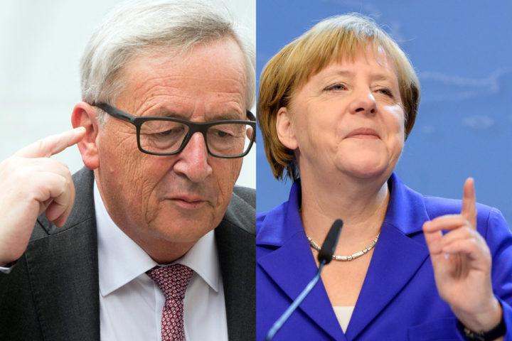 Merkel zou inmiddels wel klaar zijn met Juncker - bron:AFP