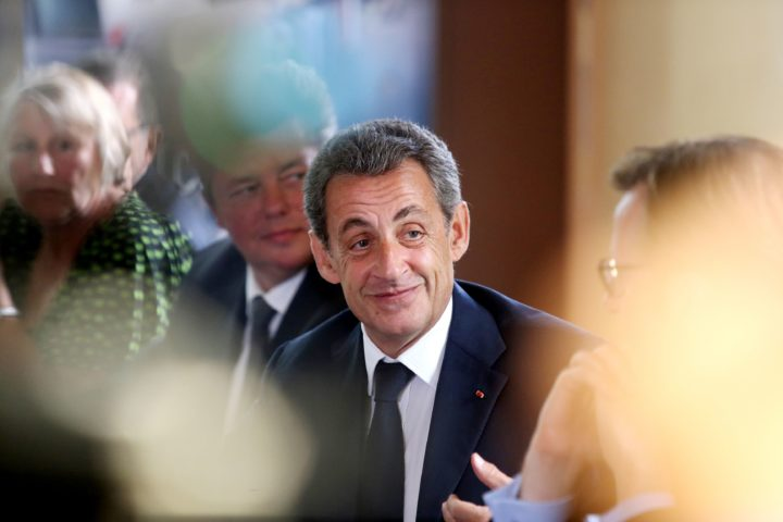 "2016-07-28 12:31:16 Former French president and head of the right-wing opposition party ""Les Republicains"" (The Republicans) Nicolas Sarkozy (R) speaks during a debate on video-protection in rural area on July 28, 2016 at the Hotel du Departement de l'Oise in Beauvais, northern France. Hollande's predecessor and opposition chief called on July 26 for the government to ""thoroughly change ... the strategy of our counterattack"", after France suffered two attacks in less than a fortnight this month -- in a bloody series that began with the January 2015 Charlie Hebdo killings -- and the government has come under fierce criticism for alleged security lapses. / AFP PHOTO / FRANCOIS NASCIMBENI"