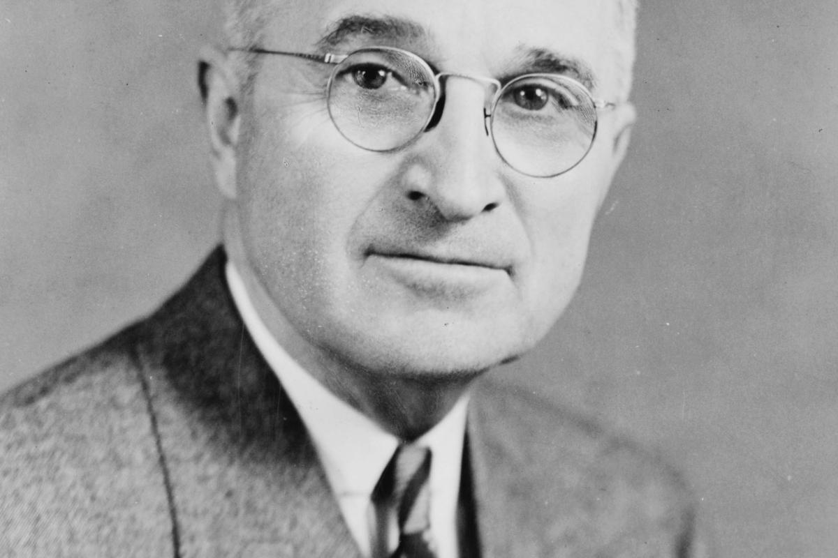 De Amerikaanse President Harry S Truman 1945 1953