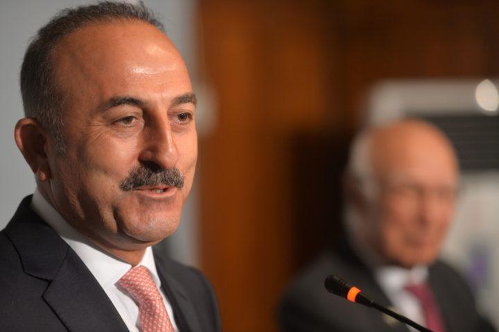 De Turkse minister van Buitenlandse Zaken Mevlut Cavusoglu haalt fel uit naar de Oostenrijkse bondskanselier Christian Kern - Foto: AFP