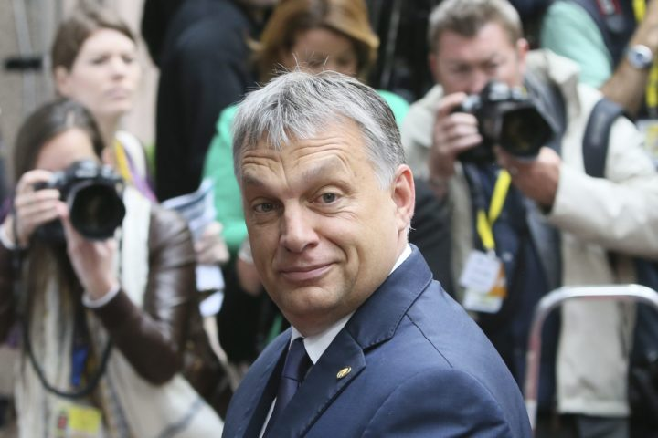 2016-06-29 08:01:57 epa05397202 Hungarian Prime Minister Viktor Orban arrives at the start of the second day of the European Council meeting in Brussels, Belgium, 29 June 2016. EU leaders met on 28 June for the first time since the British referendum, in which 51.9 percent voted to leave the European Union. EPA/OLIVIER HOSLET