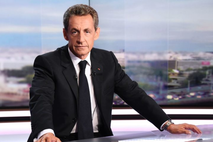 Former French president Nicolas Sarkozy poses before taking part in the broadcast news of the French TV channel TF1 in Boulogne-Billancourt, outside Paris, on August 24, 2016. / AFP PHOTO / BERTRAND GUAY