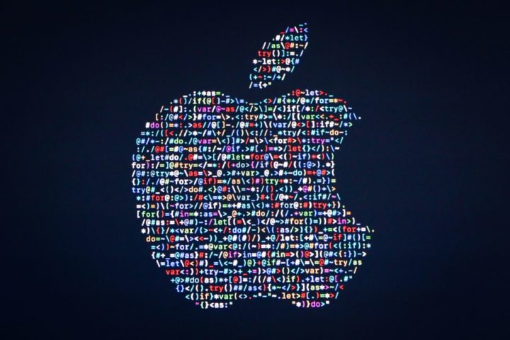 2016-06-13 17:42:39 (FILES) This file photo taken on June 13, 2016 shows the Apple logo displayed on a screen at Apple's annual Worldwide Developers Conference presentation at the Bill Graham Civic Auditorium in San Francisco, California. US stocks dipped early June 17, 2016 on reports of a crackdown on Apple by China that offset rising optimism that Britain will vote to stay in the European Union. Apple shares fell 1.7 percent following reports that the city of Beijing concluded the technology giant had violated a Chinese company's design patents and may be forced to halt sales of its latest iPhones in the Chinese capital.  / AFP PHOTO / GABRIELLE LURIE