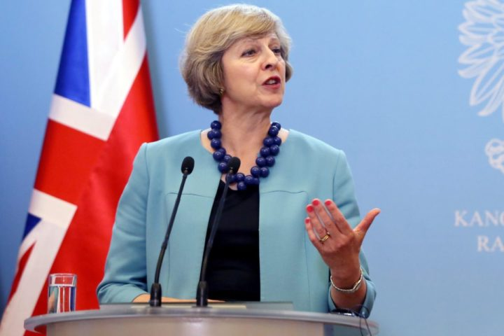 2016-07-28 00:00:00 epa05445937 British Prime Minister Theresa May during a press conference after a meeting with Polish Prime Minister Beata Szydlo, in Warsaw, Poland, 28 July 2016. Polish and British Prime Ministers discussed bilateral relations and the situation of Poles in Britain after the Brexit referendum. EPA/TOMASZ GZELL POLAND OUT