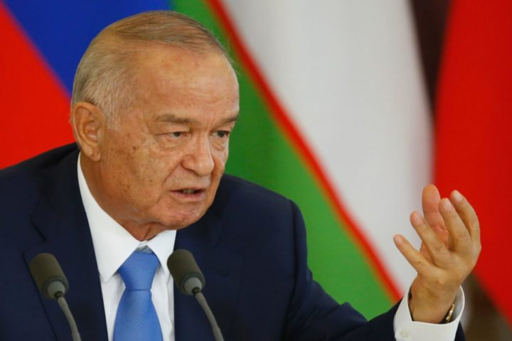 "2016-04-26 00:00:00 (FILES) This file photo taken on April 26, 2016 shows Uzbek President Islam Karimov speaking during a joint press conference with his Russian counterpart following their meeting at the Kremlin in Moscow. Strongman Uzbek leader Islam Karimov is in critical condition with his health worsening ""sharply"" days after he suffered a stroke, an official statement said on September 2. / AFP PHOTO / POOL / MAXIM SHEMETOV"