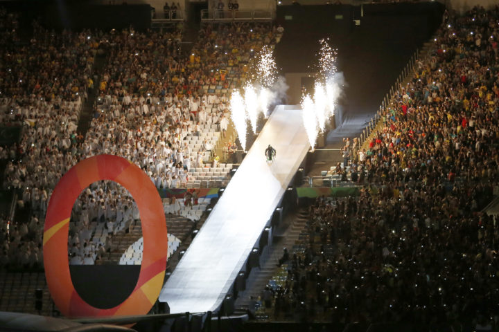 2016-09-07 18:18:18 RIO DE JANEIRO - De openingsceremonie van de Paralympische Spelen in het Maracana stadion in Rio. ANP HENK-JAN DIJKS