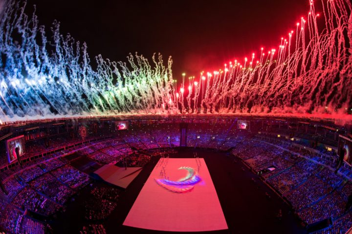2016-09-08 21:22:55 epa05529676 A handout image supplied by OIS/IOC on 08 September 2016 of fireworks around the rim of the arena at the Opening Ceremony for the Rio 2016 Paralympic Games at the Maracana Stadium, in Rio de Janeiro, Brazil, 07 September 2016. The Rio 2016 Paralympics Games will run through 18 September. EPA/Thomas Lovelock for OIS/IOC HANDOUT EDITORIAL USE ONLY/NO SALES
