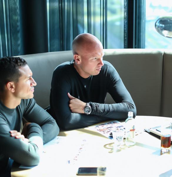 Marciano Bruma (l) en Sietse de Jong van Meet the Players (Haris, Chapter II)
