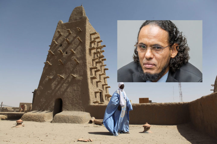 2016-02-04 12:31:59 TOPSHOT - A man stands in front of the Djingareyber mosque on February 4, 2016 in Timbuktu, central Mali. Mali's fabled city of Timbuktu on February 4 celebrated the recovery of its historic mausoleums, destroyed during an Islamist takeover of northern Mali in 2012 and rebuilt thanks to UN cultural agency UNESCO. TO GO WITH AFP STORY BY SEBASTIEN RIEUSSEC / AFP / SÉBASTIEN RIEUSSEC