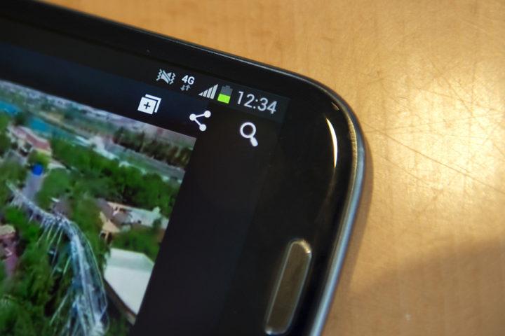 2013-02-04 13:35:08 AMSTERDAM - Het 4G netwerk op een mobiele telefoon tijdens de lancering in de Randstad. ANP OLAF KRAAK