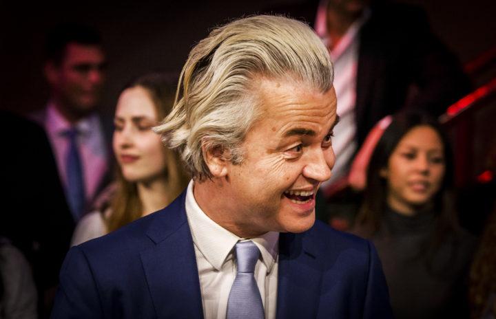 2016-04-05 20:20:08 DELFT - Geert Wilders van de PVV tijdens de informatieve uitzending NOS Nederland Kiest – Het Referendum in aanloop naar het referendum over het associatieverdrag tussen de EU en Oekraine. ANP KIPPA REMKO DE WAAL