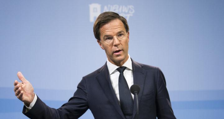 2016-09-23 14:14:18 DEN HAAG - Premier Mark Rutte tijdens de wekelijkse persconferentie na afloop van de ministerraad. ANP JERRY LAMPEN