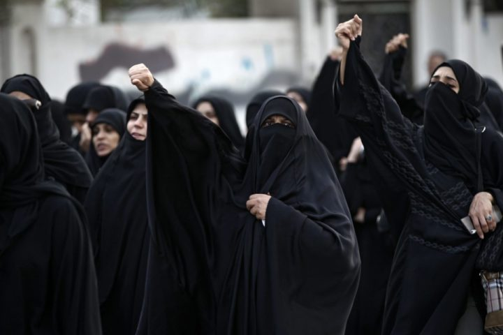 2016-01-02 00:00:00 epa05086078 Women shout slogans during a demonstration in Bahrain after Saudi Arabia executed prominent Saudi Shiite cleric Sheikh Nimr al-Nimr, in Manama, Bahrain, 02 January 2016. Prominent Saudi Shiite cleric Nimr al-Nimr was among 47 people executed on 02 January 2016, after convictions on terrorism and incitement to violence charges, the Interior Ministry said in a statement. The executions were carried out after death sentences against the inmates were confirmed by the country's top court and ratified by King Salman, SPA said. Saudi Arabia, which applies a strict interpretation of Islamic law, is among the world's top executors. EPA/AHMED ALFARDAN