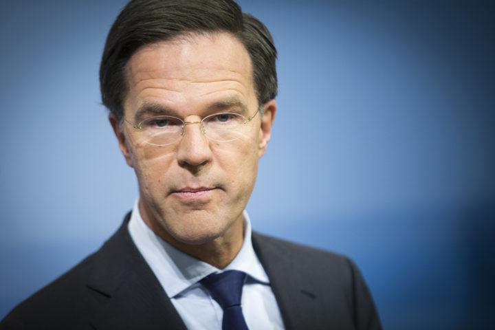 2016-11-25 14:34:43 DEN HAAG - Premier Mark Rutte tijdens de wekelijkse persconferentie na afloop van de Ministerraad. ANP EVERT-JAN DANIELS