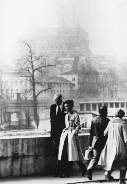 PARIS, FRANCE - UNSPECIFIED DATE: Fashion designer Hubert de Givenchy and actress Audrey Hepburn during 1982 in Paris, France. (Photo by 1645/Gamma-Rapho via Getty Images)