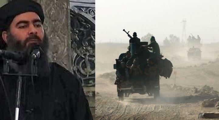 Al-Baghdadi zou zich in Mosul ophouden. Foto's: AFP