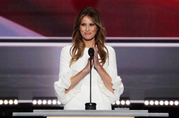 Melania Trump sprak eerder tijdens de Republikeinse Conventie in Ohio, waarna later bleek dat haar speech geplagieerd was - Foto: AFP
