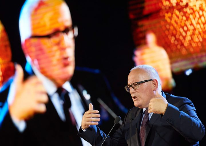 2016-09-28 00:00:00 epa05560923 European Commission Vice-President Frans Timmermans speaks at the opening ceremony of the European Forum for New Ideas (EFNI), in Sopot, Poland, 28 September 2016. EPA/ADAM WARZAWA POLAND OUT