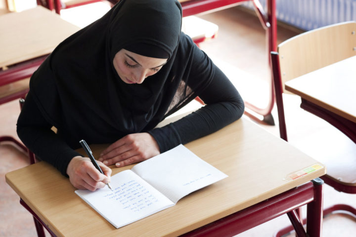 2011-04-10 15:39:11 ILLUSTRATIE - Islamitische studente. ANP XTRA ROOS KOOLE