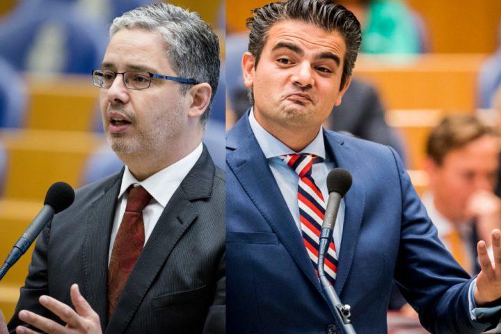 2016-06-09 10:19:45 DEN HAAG - Mustafa Amhaouch (CDA) tijdens een plenair debat over het nationaal actieprogramma tegen discriminatie. ANP BART MAAT