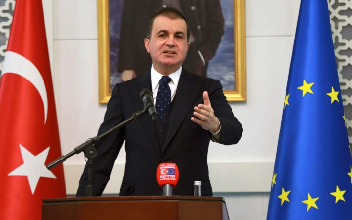 "2016-11-09 08:24:43 Turkey's EU Minister Omer Celik delivers a speech during a press conference on European Union (EU)'s report on Turkish candidacy for EU, on November 9, 2016 in Ankara. Turkey on November 9, 2016 slammed as ""far from objective"" an EU report on its stalled membership bid that accused Ankara of backsliding on criteria and told the government to decide whether it was serious about accession. ""There are sections in the report that are very far from being objective,"" Turkish EU Affairs Minister Omer Celik told a televised news conference in Ankara. / AFP PHOTO / ADEM ALTAN"