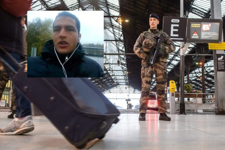 2016-12-23 10:01:33 epa05686711 French soldiers patrol the Gare de Lyon railway station in Paris, France, 23 December 2016. French authorities are stepping up security measures at various public areas over the Christmas holiday, after 12 people were killed and at least 48 injured when a truck ploughed into a busy Christmas market in Berlin on 19 December. EPA/CHRISTOPHE PETIT TESSON