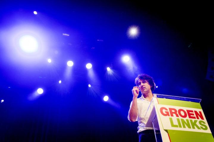 2016-11-20 21:39:38 UTRECHT - Jesse Klaver tijdens de presentatie van de kandidatenlijst van politieke partij GroenLinks voor de Tweede Kamerverkiezingen in 2017. ANP KOEN VAN WEEL