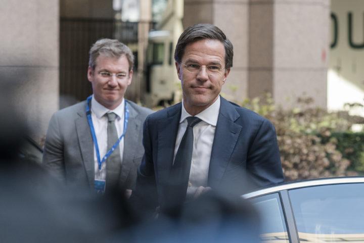 Rutte na de EU-top over onder meer de supplementaire verklaring op het associatieverdrag - Foto: ANP