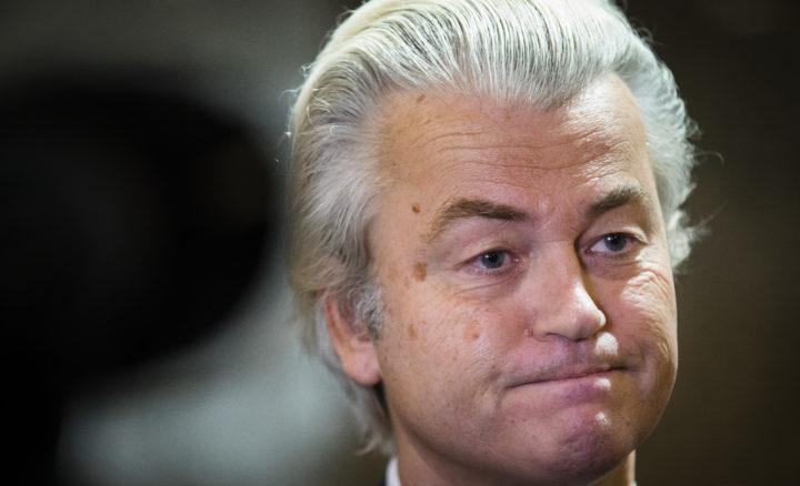 2016-12-06 16:04:24 DEN HAAG - PVV-fractievoorzitter Geert Wilders tijdens het wekelijkse vragenuurtje in de Tweede Kamer. ANP BART MAAT