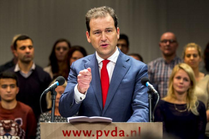 2016-12-09 17:42:45 AMSTERDAM - Lodewijk Asscher houdt een toespraak na het winnen van de PvdA-lijsttrekkersverkiezing. ANP JERRY LAMPEN
