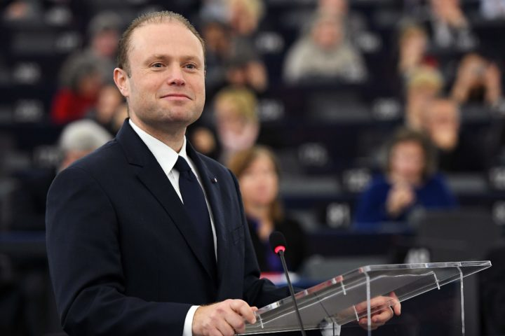 2017-01-18 12:20:36 Malta's Prime Minister Joseph Muscat speaks during a debate on the priorities of the first-ever Maltese presidency at the European Parliament in Strasbourg, eastern France, on January 18, 2017. / AFP PHOTO / FREDERICK FLORIN