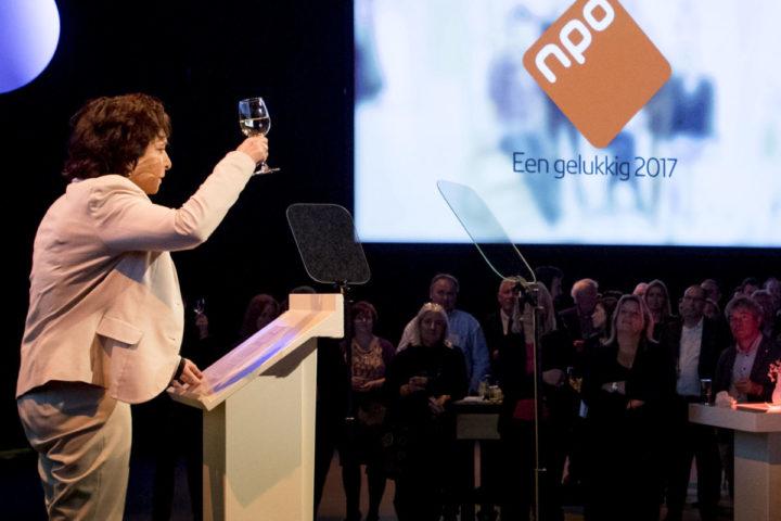 2017-01-12 19:01:23 HILVERSUM - Shula Rijxman tijdens de Nieuwjaarsreceptie van de Nederlandse Publieke Omroep (NPO). ANP KIPPA KOEN VAN WEEL