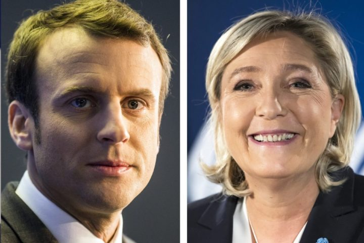 2016-11-22 21:24:59 epa05766434 A composite images made of file pictures shows the candidates for the 2017 French presidential elections (L-R) Francois Fillon for the right-wing Les Republicains, Benoit Hamon for Socialist Party, Emmanuel Macron for En Marche! party, and Marine Le Pen for far-right Front National party. The first round of the 2017 French presidential election will be held on 23 April 2017. EPA/DSK