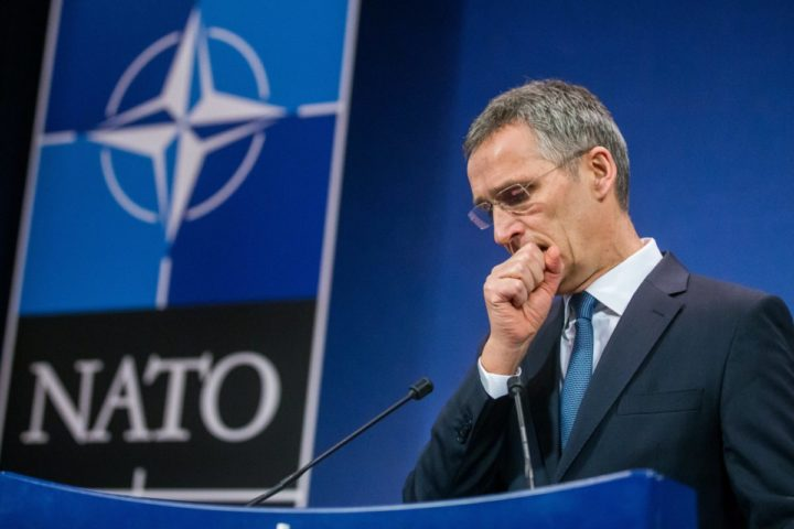 2017-02-14 12:09:44 epa05792249 NATO Secretary General Jens Stoltenberg addresses a press conference ahead of a two-day NATO defense ministers meeting at alliance headquarters in Brussels, Belgium, 14 February 2017. The NATO defense ministers meeting takes place on 15 and 16 February. EPA/STEPHANIE LECOCQ
