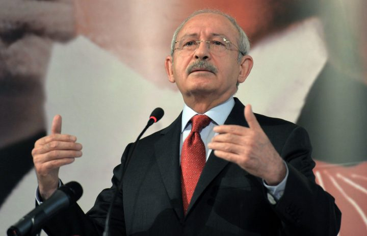 2017-03-09 13:44:58 Turkey's main opposition Republican People's Party' (CHP) leader Kemal Kilidaroglu delivers a speech during CHP mayors' meeting on March 9, 2017 in Ankara. / AFP PHOTO / ADEM ALTAN