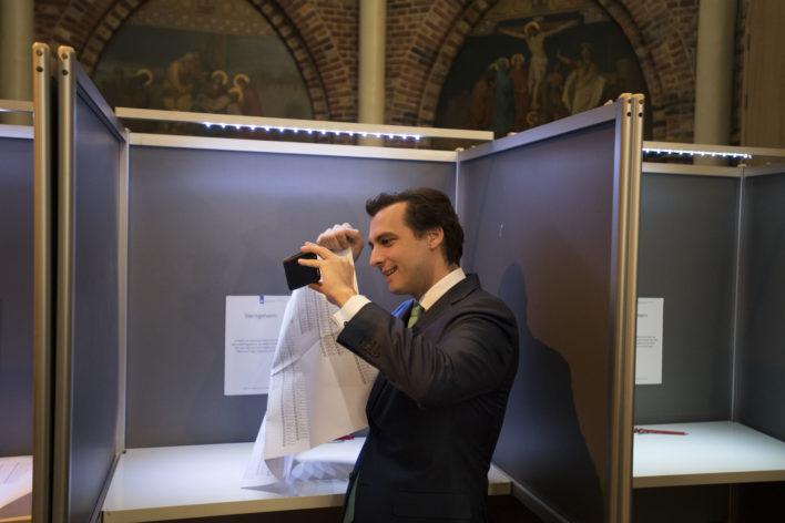 Verkiezingen: Baudet brengt zijn stem uit