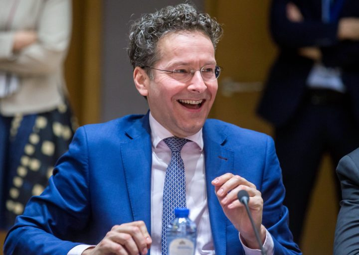 2017-03-20 16:16:55 epa05860116 President of Eurogroup, Dutch Finance Minister, Jeroen Dijsselbloem prior to the start of a Eurogroup Finance Ministers' meeting at the European Council headquarters in Brussels, Belgium, 20 March 2017. EPA/STEPHANIE LECOCQ