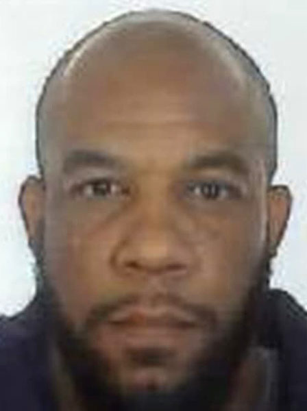"""2017-03-24 14:26:44 A handout picture released by the British Metropolitan Police Service in London on March 24, 2017 shows Khalid Masood (AKA Adrian Elms, Adrian Russell Ajao), the 52-year-old Briton behind the March 22 terror attack at Westminster Bridge and the British parliament. Khalid Masood, the 52-year-old Briton behind this week's terror attack at Westminster Bridge and the British parliament, had a history of violence and was once investigated by the security services for potential extremism. The night before the attack in central London which killed at least four people and injured 50, Masood stayed in a hotel in Brighton on the southern English coast, where he told staff he was visiting friends. / AFP PHOTO / METROPOLITAN POLICE / - / RESTRICTED TO EDITORIAL USE - MANDATORY CREDIT """"AFP PHOTO / METROPOLITAN POLICE """" - NO MARKETING NO ADVERTISING CAMPAIGNS - DISTRIBUTED AS A SERVICE TO CLIENTS"""